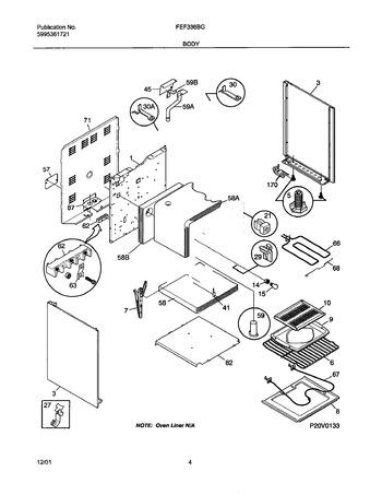Diagram for FEF336BGWF