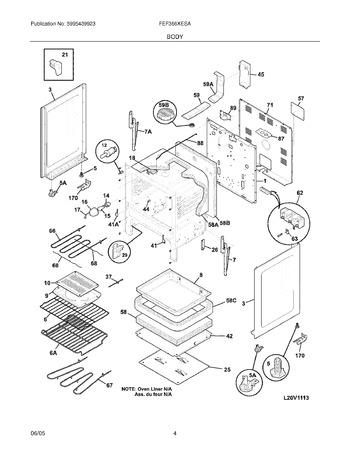 Diagram for FEF366XESA