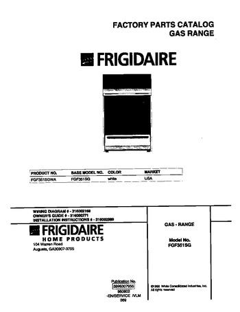 Diagram for FGF351SGWA