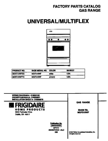 Diagram for MGF316WFTC
