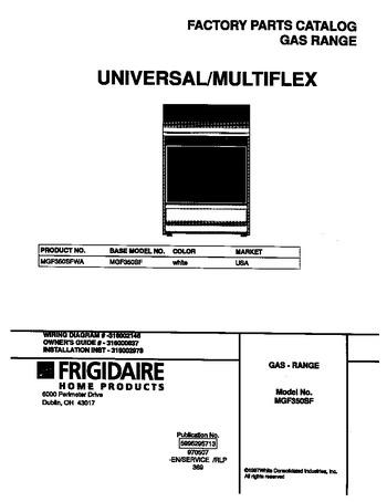 Diagram for MGF350SFWA