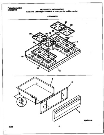 Diagram for MGF355BGWC