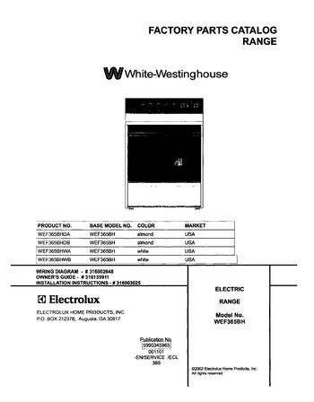 Diagram for WEF365BHWB