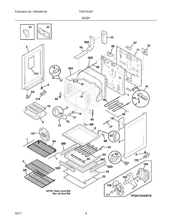 Diagram for FGEF3032KWE