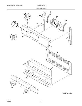 Diagram for FFGF3024SSB
