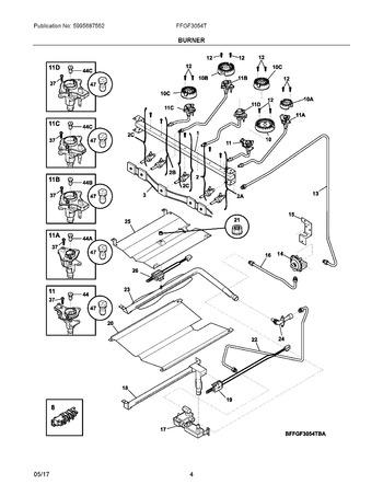 Diagram for FFGF3054TWA