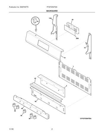 Diagram for FFGF3054TSD