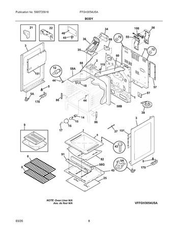 Diagram for FFGH3054USA