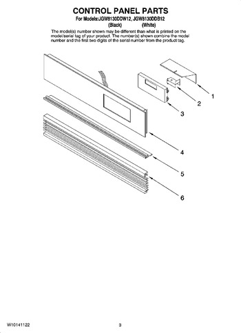 Diagram for JGW8130DDW12