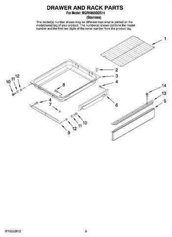 Diagram for MGRH865QDS14