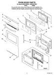 Diagram for 03 - Oven Door Parts