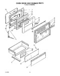 Diagram for 06 - Oven Door And Drawer