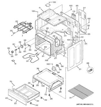 Diagram for JB250DF1WW