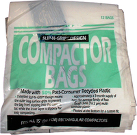 """15"""" Plastic Trash Compactor Bags - 12 Pack by GE"""