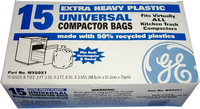 "15"" Plastic Trash Compactor Bags - 15 Pack by GE"